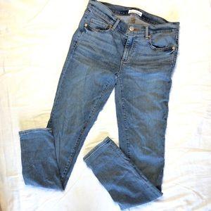 Loft denim modern skinny blue jeans size 2/26
